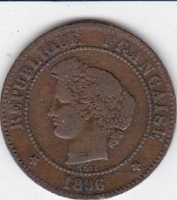 1896 A France 5 Cent Centimes Bronze Coin  LOOK