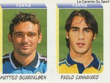 GUARDALBEN CANNAVARO ITALIA AC.PARMA RARE UPDATE STICKER CALCIATORI 2000 PANINI