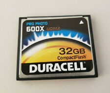 Duracell 32gb Compact Flash Pro Photo 600x UDMA - Wiped & Tested