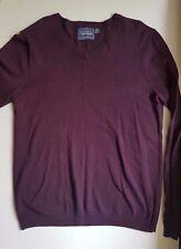 Topman Men's V neck jumper sweater pullover Purple Size M