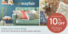 wayfair.com 10% off entire order 1coupon - WAYFAIR - exp. 07-31-19 - Sent Fast