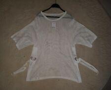Women's New Tie Split Side Tops in white by NEXT Medium