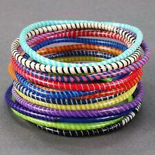 12 FLIP FLOP bangle bracelets! A handmade product from women in Mali W. Africa.
