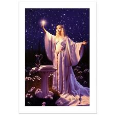 "Lotr Greg Hildebrandt ""The Ring Of Galadriel"" Ltd Ed Giclee on Canvas"