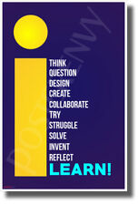I Learn - NEW Classroom Motivational POSTER