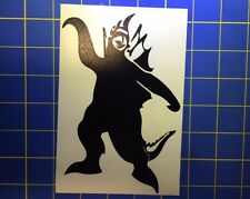 Gigan Silhouette Vinyl Decal - Sticker 3x4 - Any Color - Godzilla