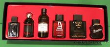 Mini Perfume Set Men Xeryus,French Line, Grey Flannel,Azzaro Van Cleef Borsalino