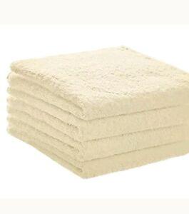 Hand Towels, 4 Pack-Cream, Super Absorbent Ringspun