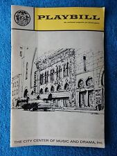 The Sound Of Music - New York City Center Theatre Playbill - May 1967 - Towers