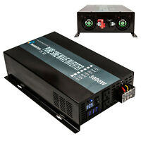 Pure Sine Wave Inverter 3000W DC to AC Power Inverter 24V to 120V LED Display