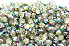 50 Pcs - 8mm CZECH GLASS FIRE POLISHED BEADS  -  JONQUIL VITRAIL