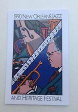 (6) 1990 NEW ORLEANS JAZZ HERITAGE FESTIVAL FEST POSTER CARD POSTCARD KID SHEIK