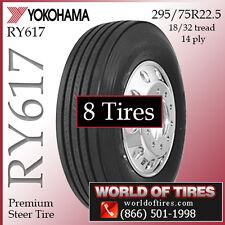 8 tires Yokohama RY617 22.5lp 295/75R22.5 semi truck tires 225 tires