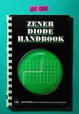 Motorola Zener Diode Handbook 1967 VINTAGE ELECTRONICS DIY BOOK LOT G88