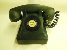 Old NORTHERN ELECTRIC direct line to Fire Department DESK PHONE w/ orig. Cord