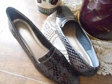 Women's Shoes, Low-Heels by California magderians, Brown Leather  Pumps, Sz 10 M