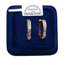 Orecchini da donna oro giallo 18K zirconi cristalli swarovski veri SW4/1 bianchi