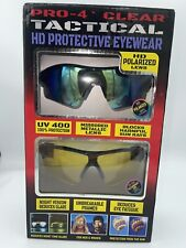 New listing Pro 4 Clear Tactical Hd Protective Eyewear Hunting Protective Eyewear 2 Pair