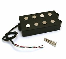 Black Alnico 5 Vintage Style Pickup for EBMM Music Man® Bass PU-MM4A-NB