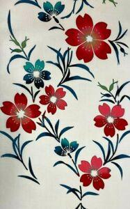 BY THE METRE Vintage COTTON Japanese YUKATA Kimono Fabric  #03