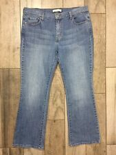 Women's Clothing Jeans Levis 515 Boot Cut 16s 38x28 Euc Silver Stud Pockets Dark Blue Stretch Red Tab