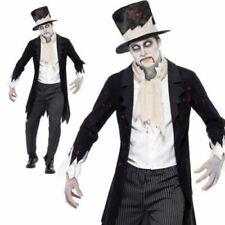 Da Uomo Scuro Fantasma dell/'Opera Ballo in Maschera Costume Halloween Fancy Dress M-XL