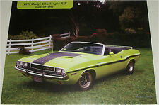 1970 Dodge Challenger RT Convertible car print green & black, no top)