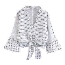 Camisas y tops de mujer Camiseta corta sin marca de poliéster