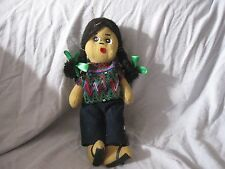 vintage handmade South American Guatemala? folk doll 11.5""