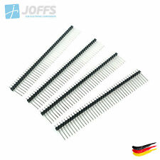 10 x 40 Pin Stiftleiste 17mm einreihig SCHWARZ (2.54mm Single Row Header Strip)