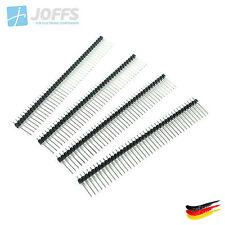 10 x 40 Pin Stiftleiste 17mm einreihig 2.54mm (Single Row Pins Header Strip)