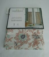 """Threshold Light-Filtering Cafe Curtain Set Multicolor Floral 42"""" x 36"""" Curtains"""