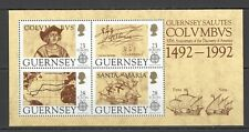 EC044 1992 GUERNSEY EUROPA CEPT SHIPS COLUMBUS DISCOVERY OF AMERICA KB MNH