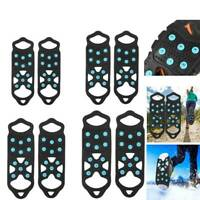 11 Studs Ice Snow Grips Anti Slip On Over shoe Boot studs Crampons Cleats Spikes