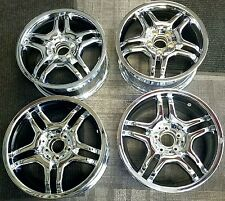 AMG MERCEDES CLK CHROME OEM ALLOY WHEELS RIMS 17x7 1/2, 17x8 1/2 2008-2009