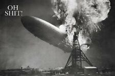 """OH SHIT AIRSHIP DISASTER POSTER """"BRAND NEW"""""""