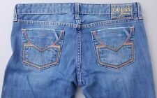 """Guess """"Foxy Flare"""" Distressed and Embellished Flare Leg Jeans Womens Size 29"""