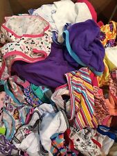 Lot Of 50 GIRLS Underwear SIZE  4 Assorted Lot Of Colors-Styles-Brands