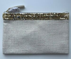 DIOR COSMETIC/MAKEUP BAG POUCH CLUTCH JADORE BEIGE GOLD VIP GIFT