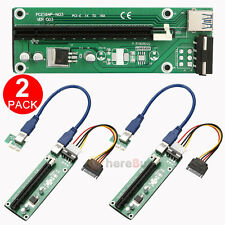 2x USB 3.0 PCI-E Express Powered Riser Card W/ Extender Cable 1x to 16x Monero