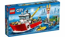 60109 FIRE BOAT lego NEW town CITY legos set firemen SEALED retired lighthouse