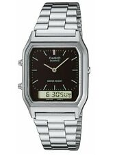 Casio Men's Analogue & Digital Watch, Silver/Black, AQ-230A-1DMQ