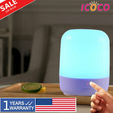 LED Rechargeable Dimming Night Light RGB Desk Bedside Table Touch Lamp Home USA