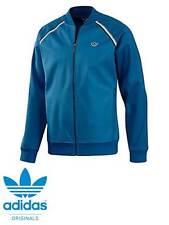 Men Adidas Originals Premium Bonded Tech Track Top Jacket  Blue