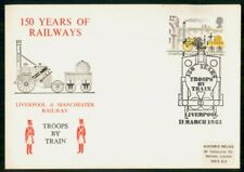 Mayfairstamps Great Britain 1981 Troops By Train Railways 150 Yrs Cover wwh_7208