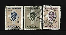 1952 - ANGOLA - Sacred Art Exhibition - Complete Series - AF 352 to 354