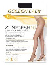 """Golden Lady Strumpfhose """"Sunfresh 10"""" hauchdünn Gr. S - M - L- XL"""