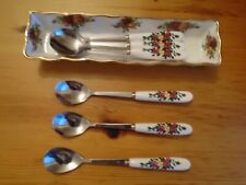 Royal Albert Old Country Roses Mint Tray + 6 Good Match  Tea spoons GC