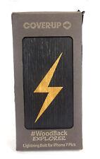 Original Cover-up Schutzhülle Woodback für iphone 7 plus, Blitz