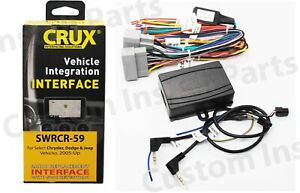 Crux SWRCR-59 Stereo Install Interface + SWC Retention fits 05-17 Chrysler Dodge